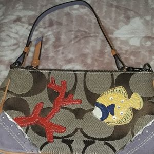 Rare vintage bag - coach fish and coral patches